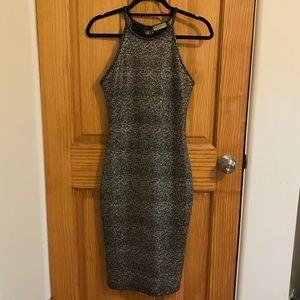 Necessary Clothing Gold Flecked Body Con Dress